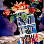 "collage with paper and cardboard ""flowers II"""