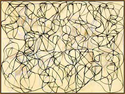 brice marden's cold mountain painting