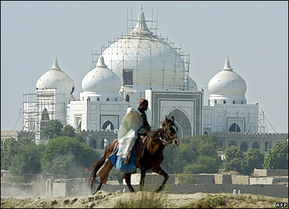 benazir's father's mausoleum in the village of garhi khuda bakhsh