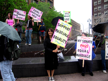 marriage equality rally in rochester
