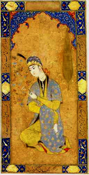 persian miniature - seated princess