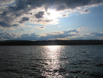 sunset on canandaigua lake