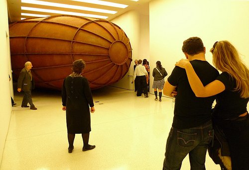 """First viewing area: Anish Kapoor's """"Memory"""""""