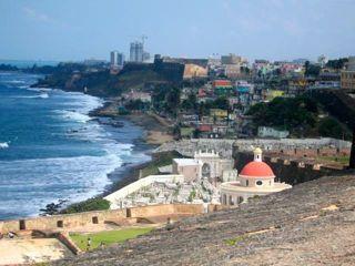 view from fort el morro, san juan