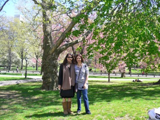 me and amra in central park, apr 2010