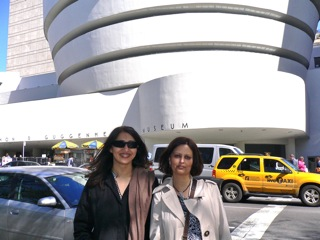 me and amra in front of the goog.
