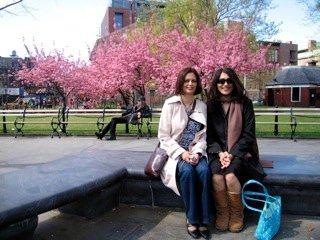 amra and i in washington square park.
