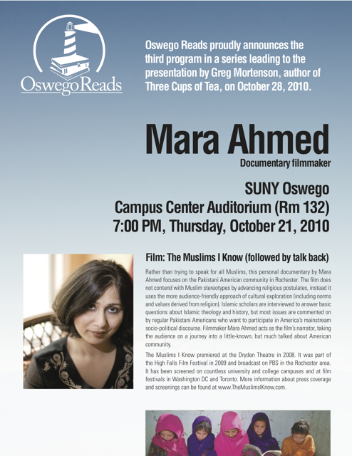 """""""the muslims i know"""" at SUNY oswego - oct 21, 2010"""