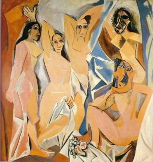 les demoiselles d'avignon by pablo picasso (1907)