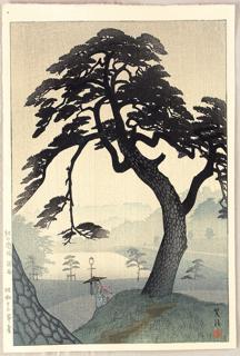 Pine in Rain by Shiro Kasamatsu