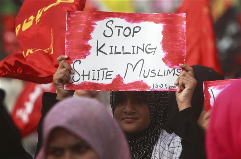 protests against shia killings in pakistan