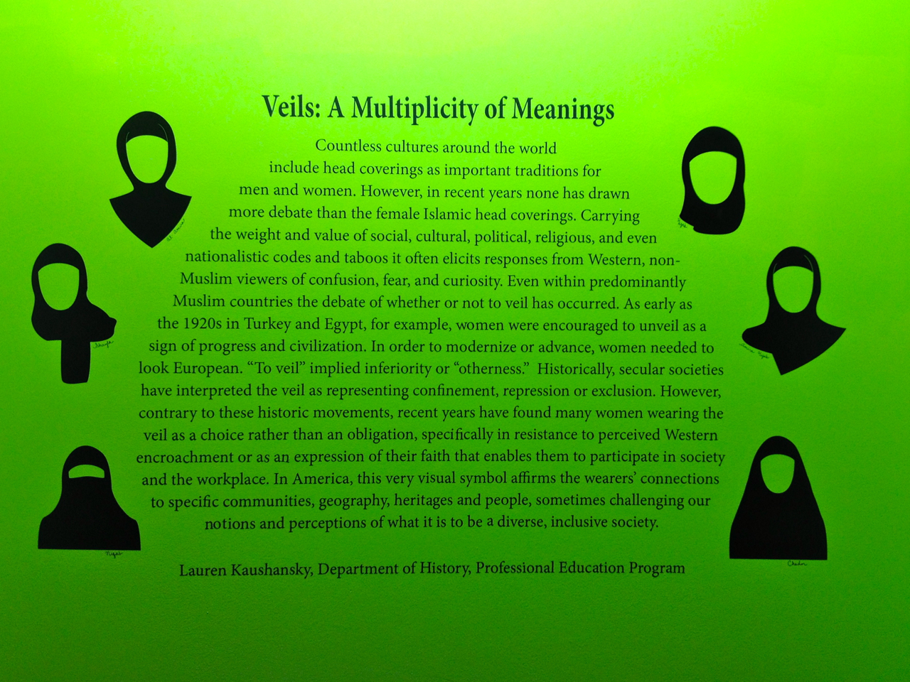 veils: a multiplicity of meanings