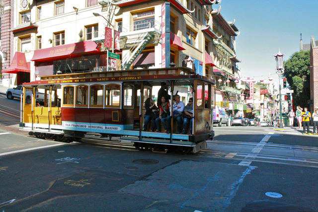 SF's famous cable cars