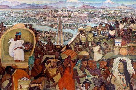 How diego rivera imagined tenochtitlan for Diego rivera tenochtitlan mural