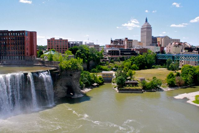 high falls district in rochester
