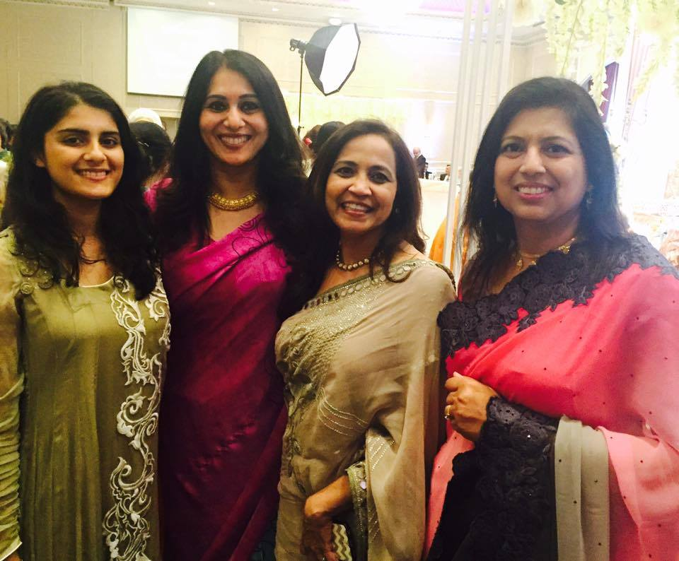 with friends at another wedding in canada